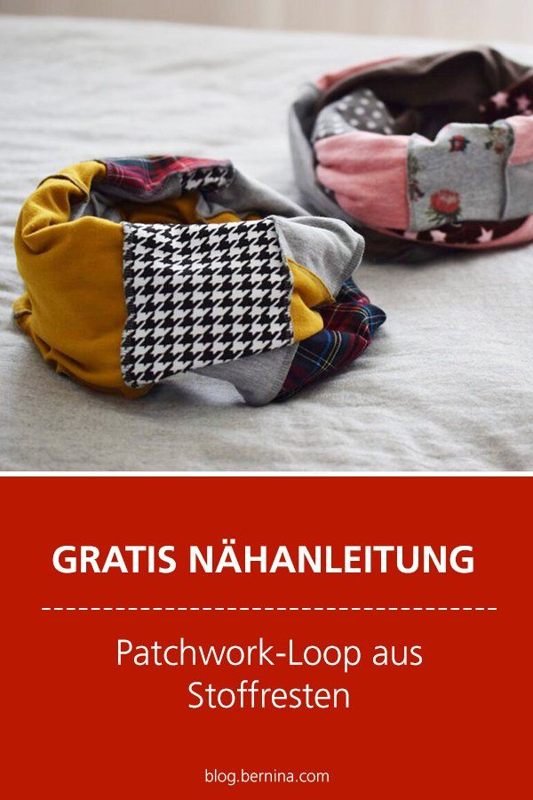 Photo of Kostenlose Nähanleitung: Patchwork-Loop aus Stoffresten