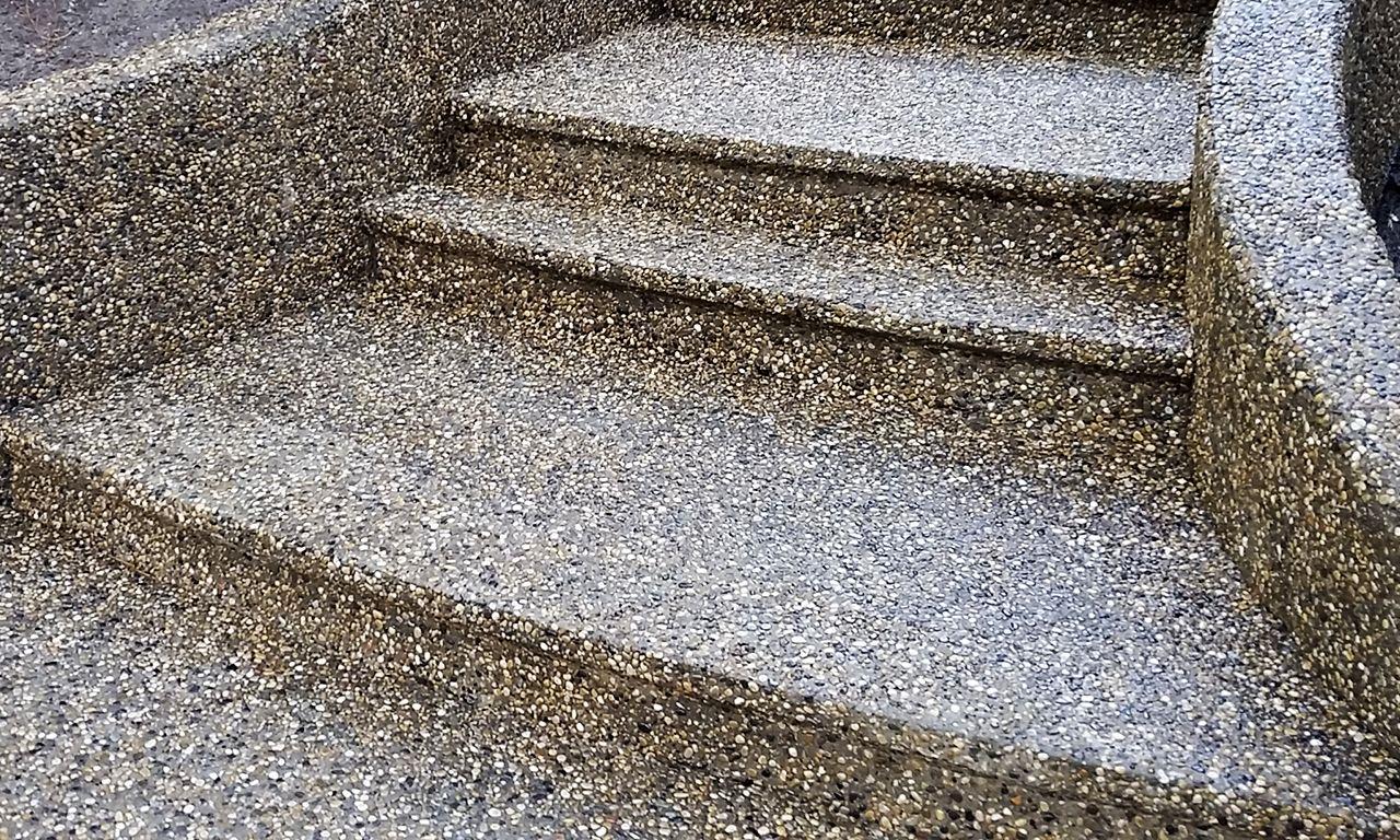 Exposed aggregate luigis concrete and foundation