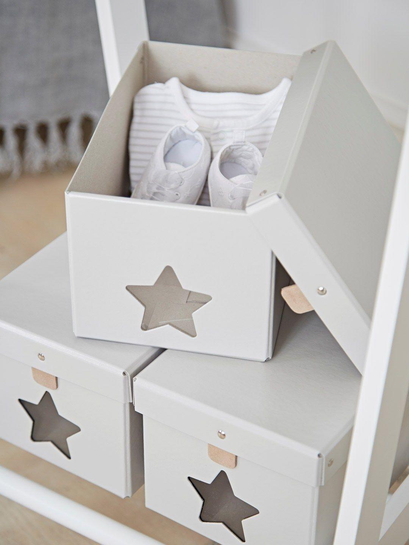 Star Storage Box Nursery Scandi Children S Design Bo Grey And White Ideas