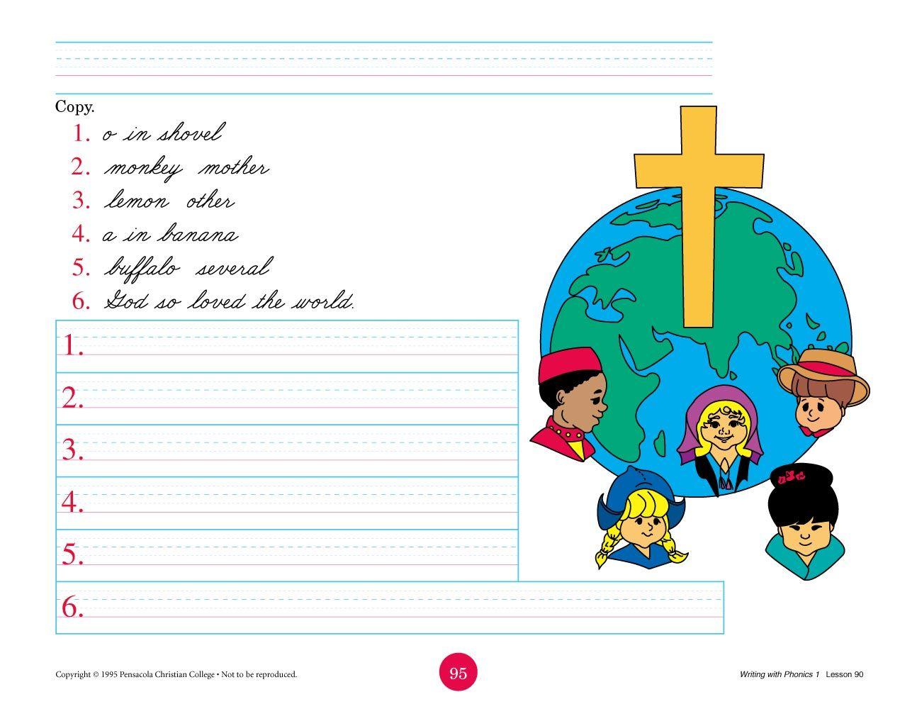 Abeka Product Information Writing With Phonics 1 Cursive Abeka Kindergarten Worksheets Sight Words Free Kindergarten Reading [ 1000 x 1294 Pixel ]