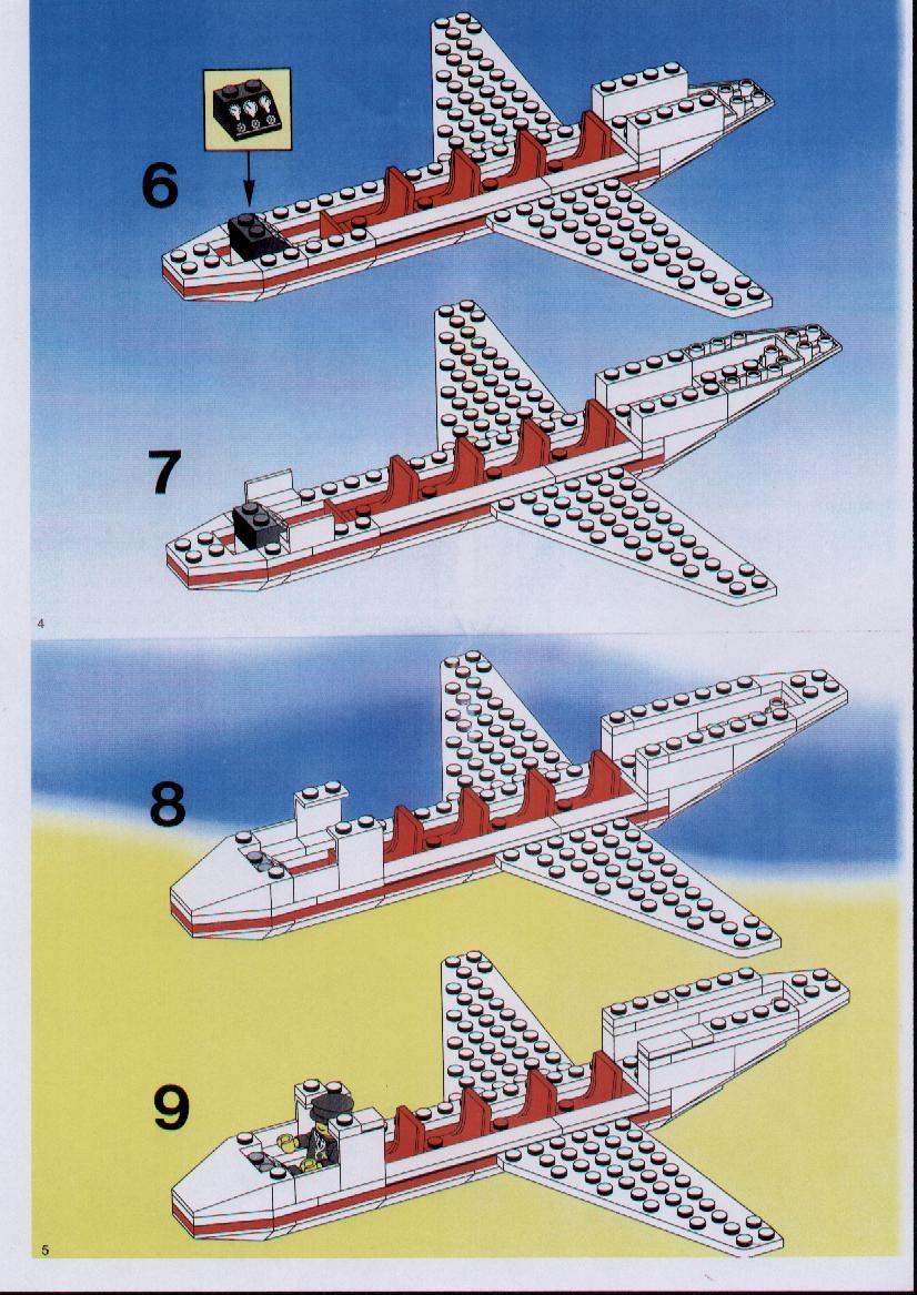 City Aircraft Lego 1774 Saved Lego Instructions By Ksn E