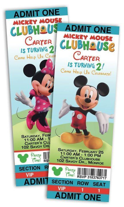 Mickey Mouse Birthday Party Mickey Mouse Clubhouse Birthday