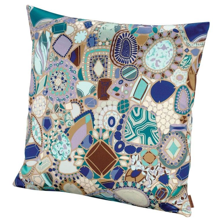 Missonihome Prepignan Cushion With Multicolor Blue Jewel