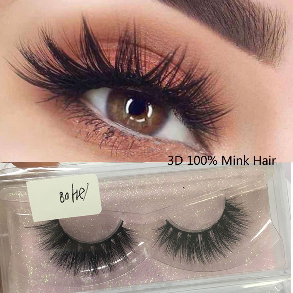 c639714cf53 False Eyelashes #eBay Health & Beauty. 1 Pair 3D Mink Hair False Eyelashes  Makeup Thick Cross Long Extension ...