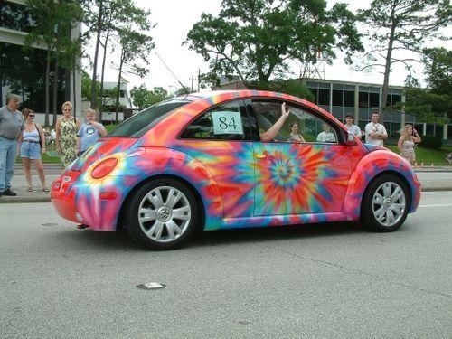 vw bug  tie dye paint scheme wild paint vw beetle convertible beetle convertible car