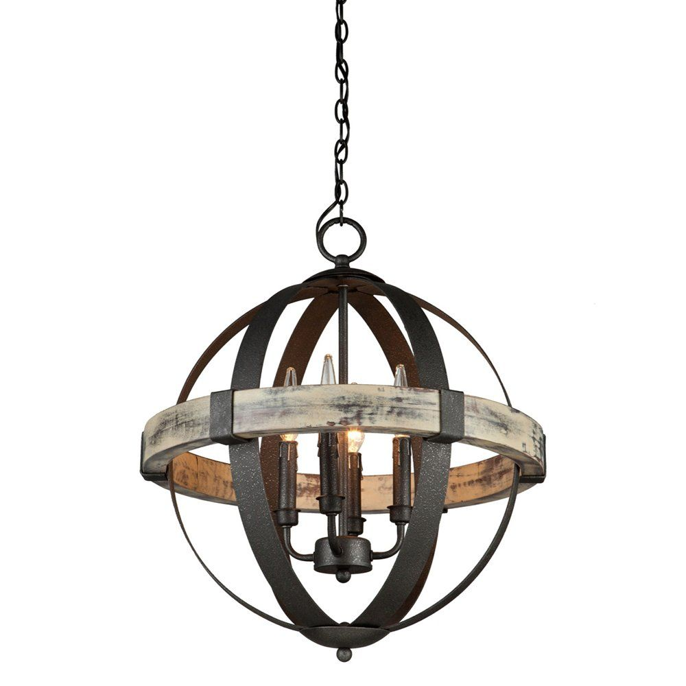White washed wood sphere chandelier chandeliers by shades of light - Artcraft Lighting Ac10015 Castello 4 Light Sphere Chandelier Lowe S Canada