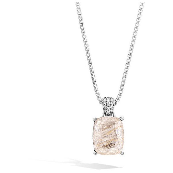 John Hardy Magic Cut Pendant Necklace With Champagne Topaz, Diamonds