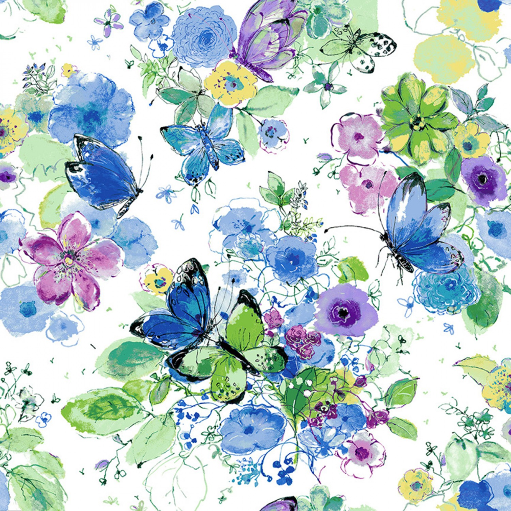 Bloom Bloom Butterfly Meadowland Iris Fabric Shabby Quilt Quilt Fabric Wild Roses