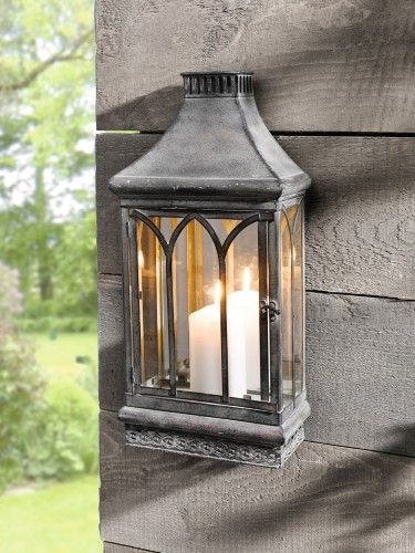 Wall Mount Mirror Candle Lantern Clear Gl Jet