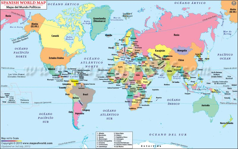 World map in spanish mapa del mundo spanish resources world map in spanish mapa del mundo gumiabroncs Image collections