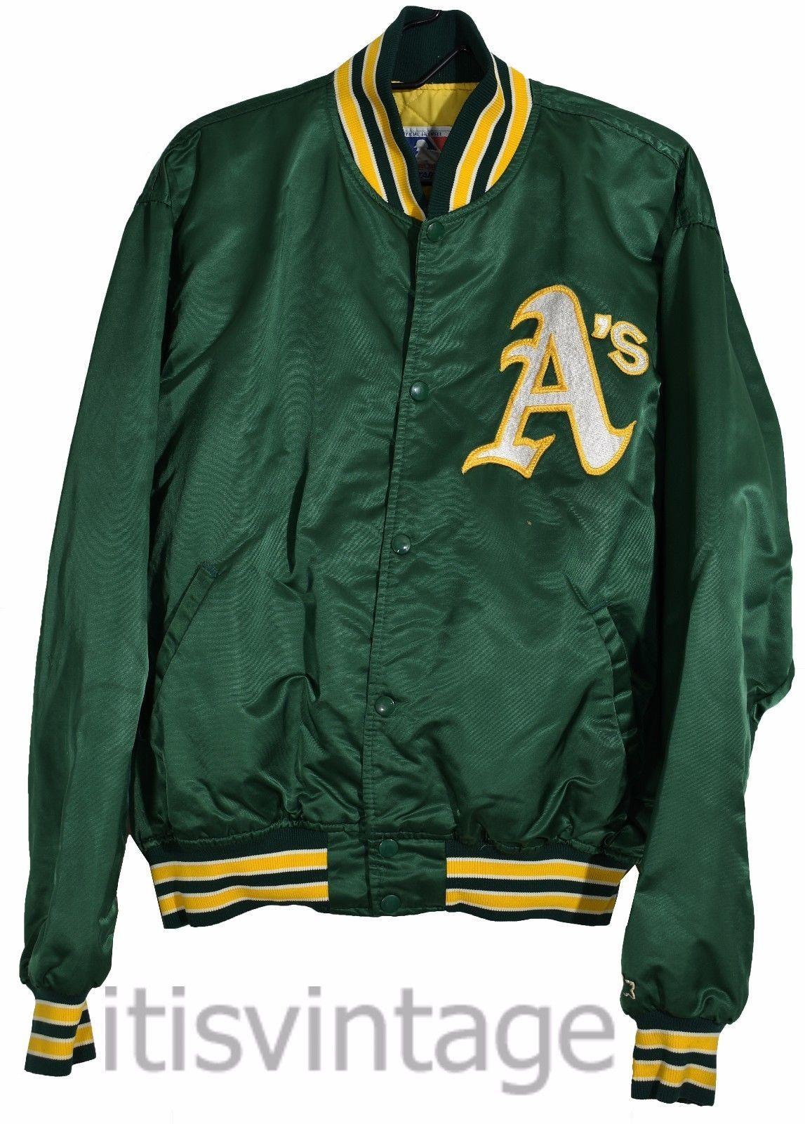 Vintage 1980s Oakland A s Athletics Starter Snap Button XL Nylon Baseball  Jacket in Clothing 9397627dd