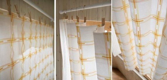 Great Idea Of Using Clothes Pins As Curtain Hooks Hanging