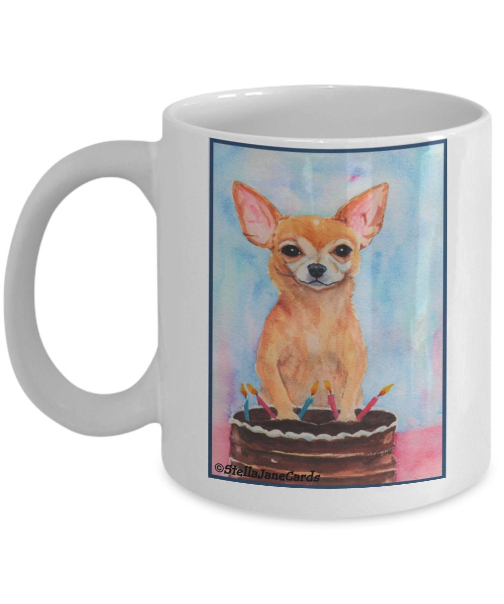 Birthday Chihuahua and Cake Mug Cute coffee mugs, Mugs