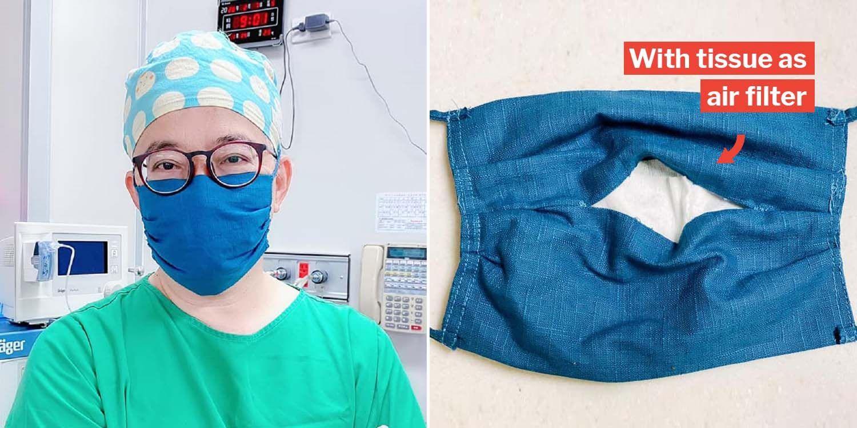 طبيب تايواني يعلم كيفية صناعة قناع الوجه Diy بفلتر الهواء لذلك لا حاجة للتدافع في المتاجر Diy Clothes Mask Diy Sewing