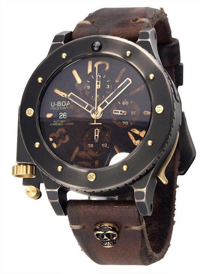 6473 T-42 Chrono Oro 47 mm Dial Negro Reloj de hombre U-Boat
