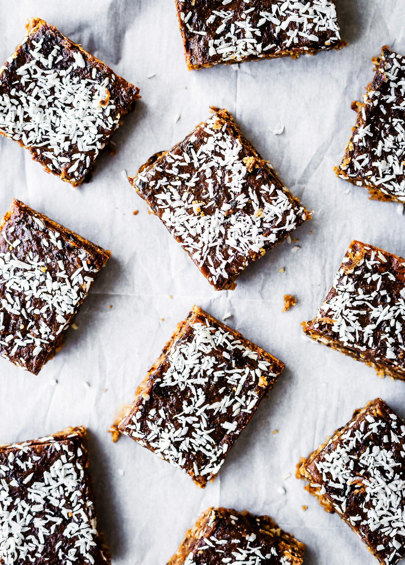 Paleo coconut almond butter jelly energy bars