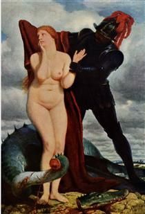 Angelika, guarded by a dragon - Arnold Böcklin