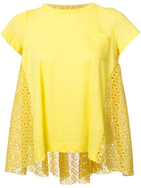 Lace Crossover-Back T-Shirt