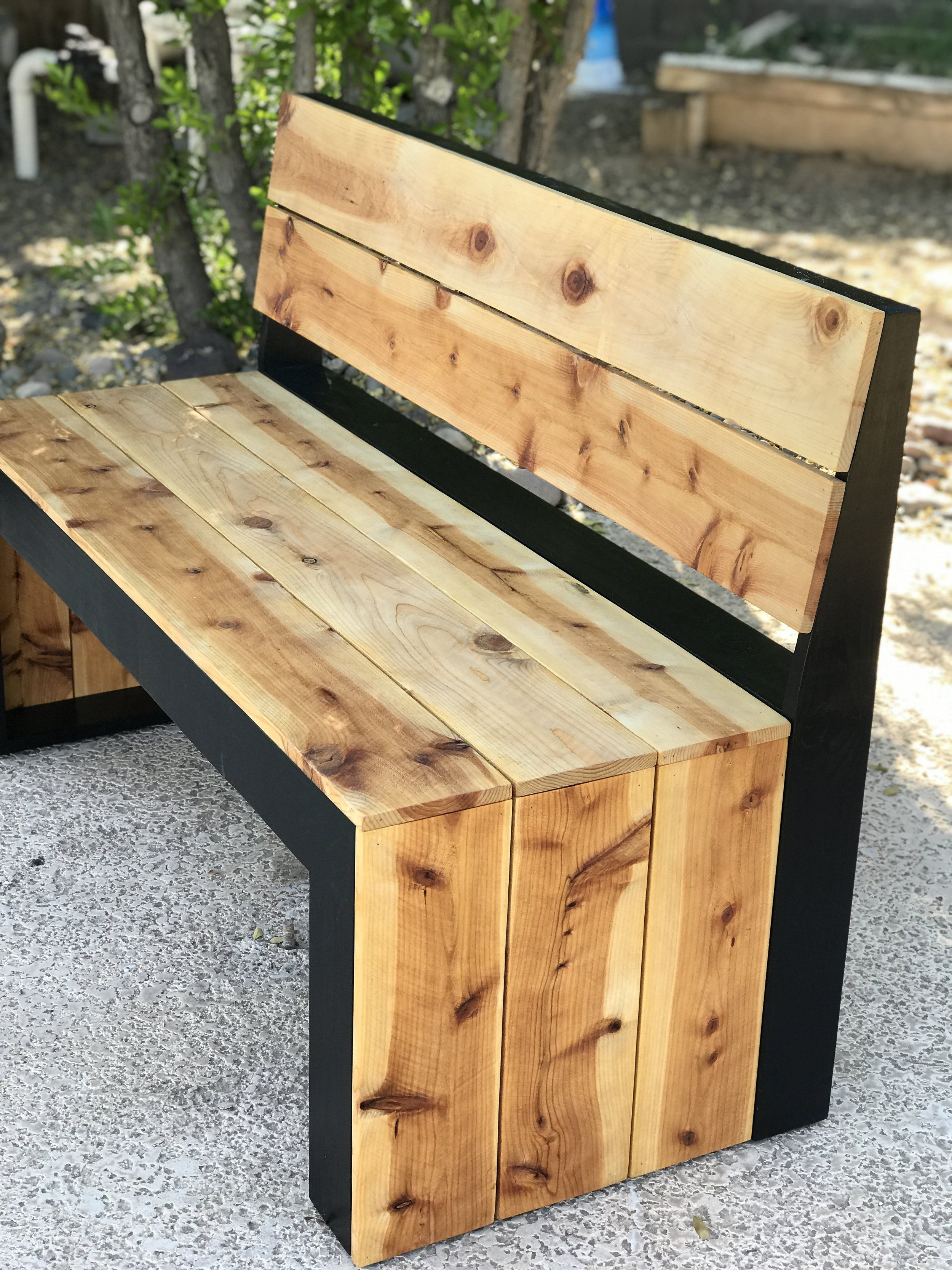 Diy Modern Bench With Back Diy Bench Outdoor Modern Bench Wood