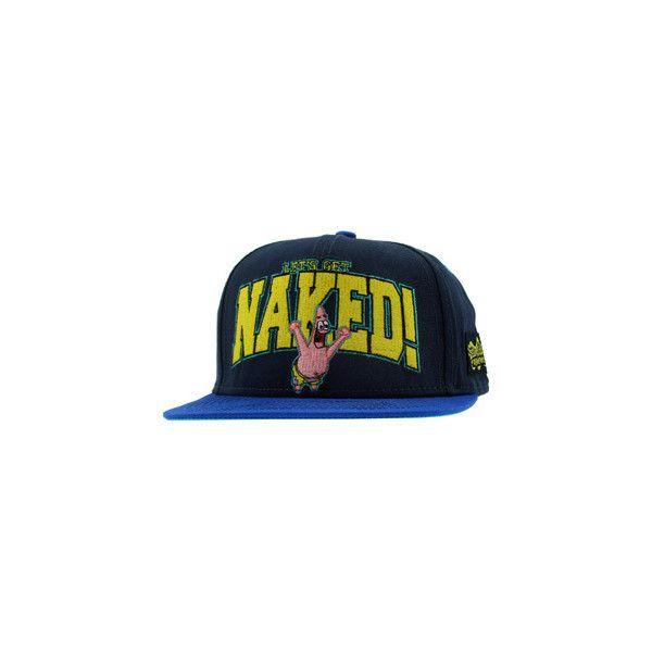 c9670e689a8d3 Spongebob Naked Patrick Snapback Cap (blue) ( 19) ❤ liked on Polyvore