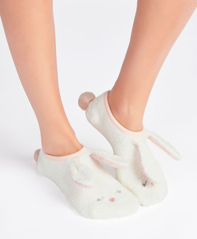 Photo of Fluffy ear shoeliner socks – Socks – NIGHTWEAR | Oysho United Kingdom