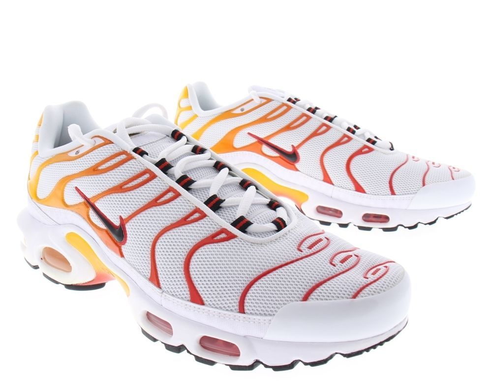 huge selection of b2725 520c0 Nike Air Max Plus TN Sunburn White Gold Orange Tuned Retro ...
