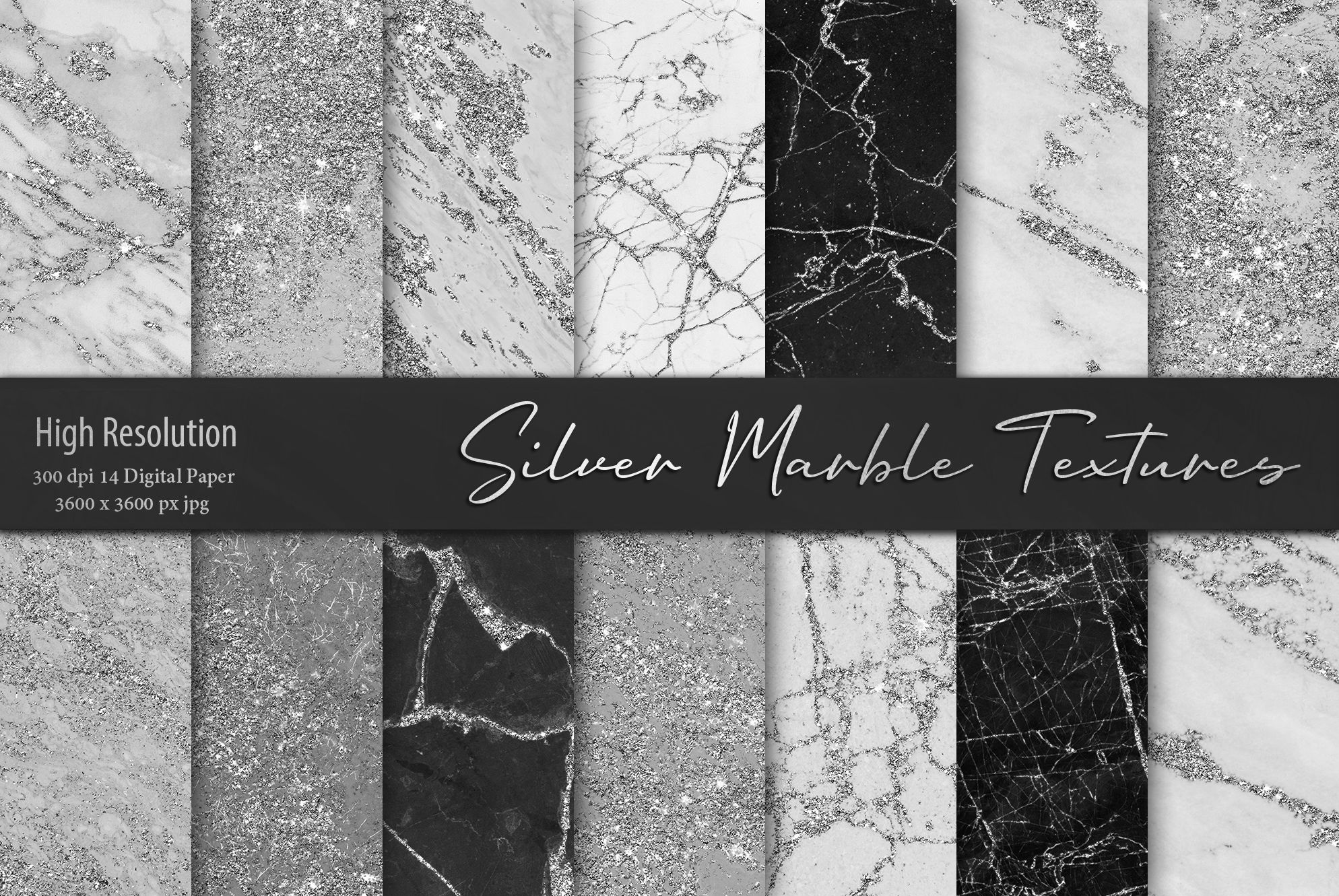 Silver Marble Textures #marbletexture