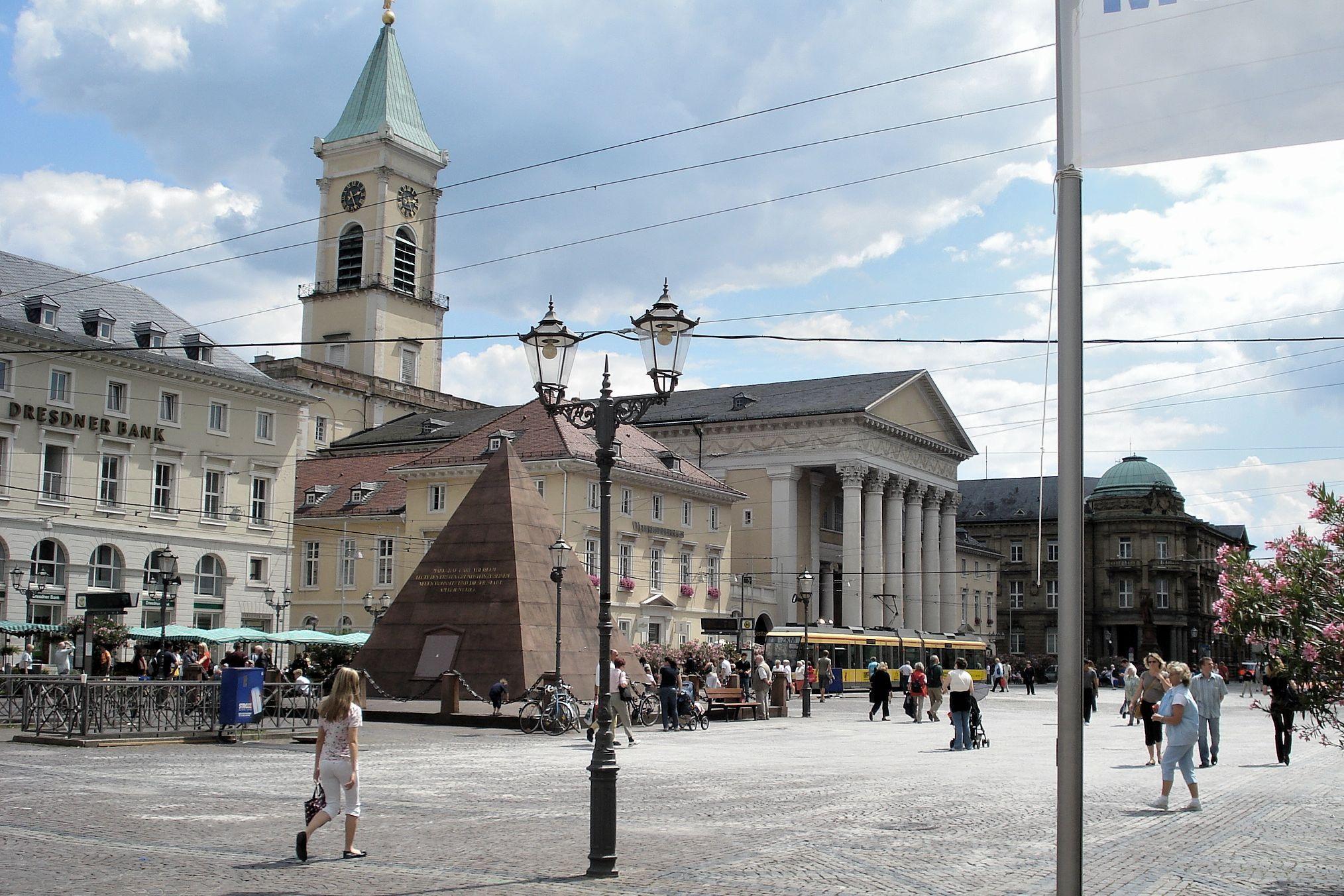 Marktplatz, 180626, Karlsruhe, by Friedrich Weinbrenner