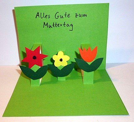 Muttertagskarte mit blumen muttertag basteln meine enkel und ich made with - Bastelideen muttertag ...