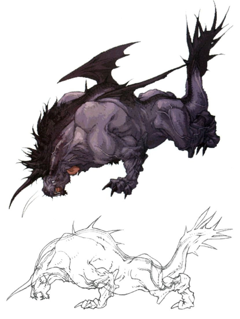 Behemoth Monster Artwork From Final Fantasy Xi Art Illustration Artwork Gaming Videogames Gamer Fantasy Creatures Fantasy Monster Dark Fantasy Art
