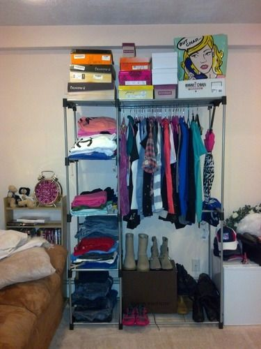 Amazon Com Whitmor 6779 3044 Double Rod Closet Silver With Images Free Standing Closet Whitmor Double Closet