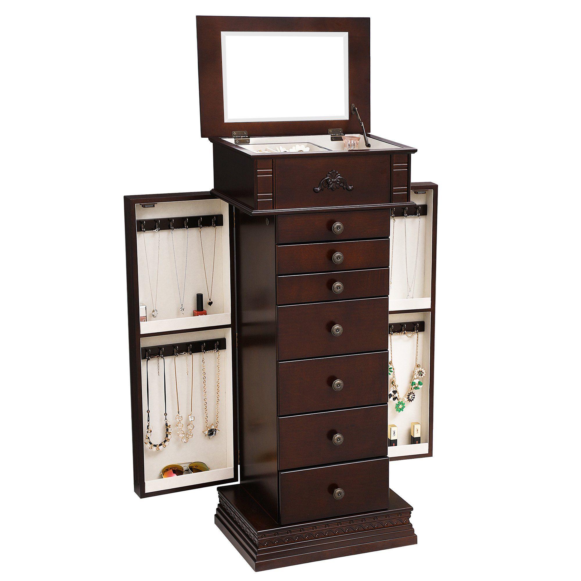 product black cabinet armoire master honey jewelry hives hayneedle cfm landry