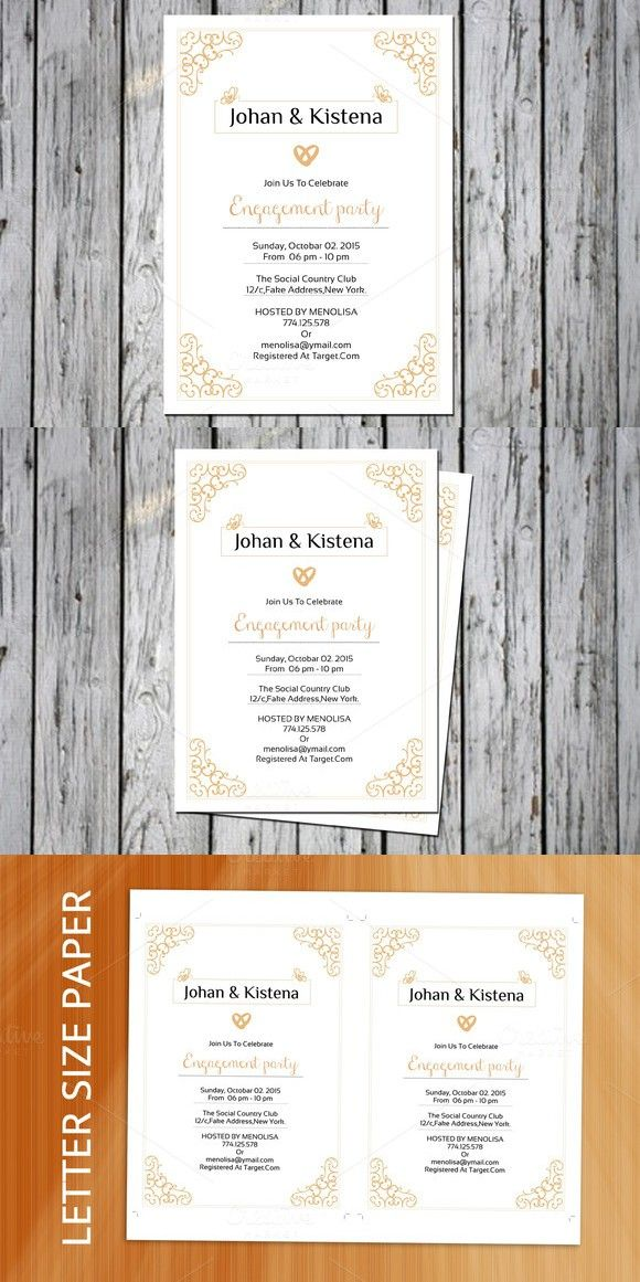 Engagement Invite Templates Magnificent Engagement Party Invitation Template  Pinterest  Party Invitation .