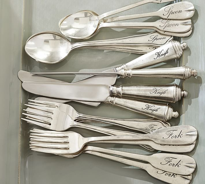 Antique Silver 5-Piece Flatware Set | Dinner table, Flatware and Dinners