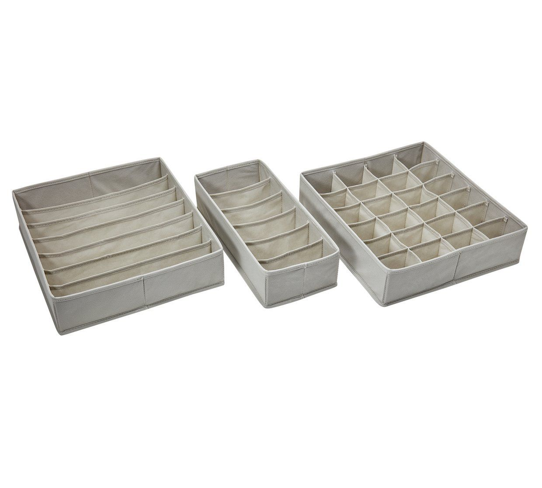 Buy Argos Home Set Of 3 Drawer Organisers Storage Baskets And Boxes Argos Drawer Organisers Argos Home Baskets And Boxes