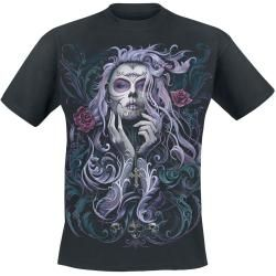 Photo of Spiral Rococo Skull Herren-T-Shirt – schwarz Spiral Direct