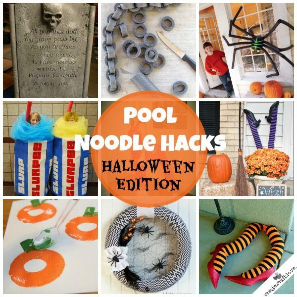 Pool Noodle Hacks Halloween Edition Holidays Pinterest Pool Noodles Noodle And Hard Times