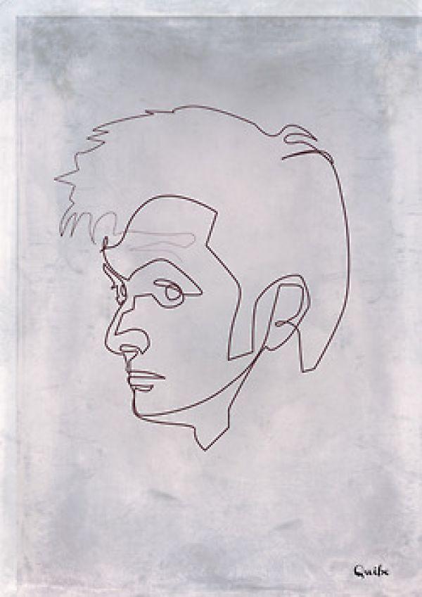 "dr.Who - ""One line"" portrait"