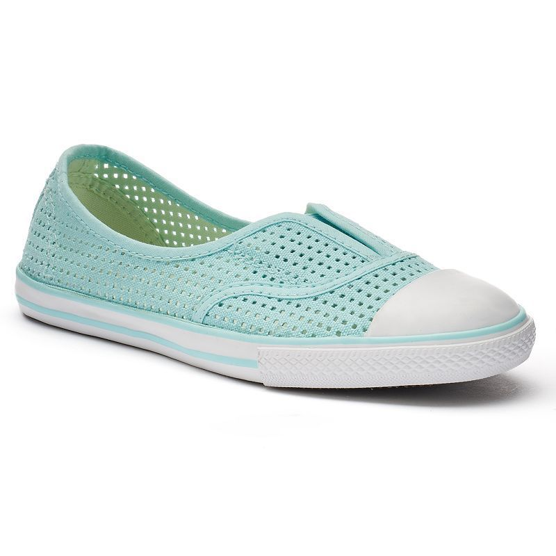 Kid's Converse Chuck Taylor All Star Cove Slip-On Sneakers, Size: 12, Light Blue