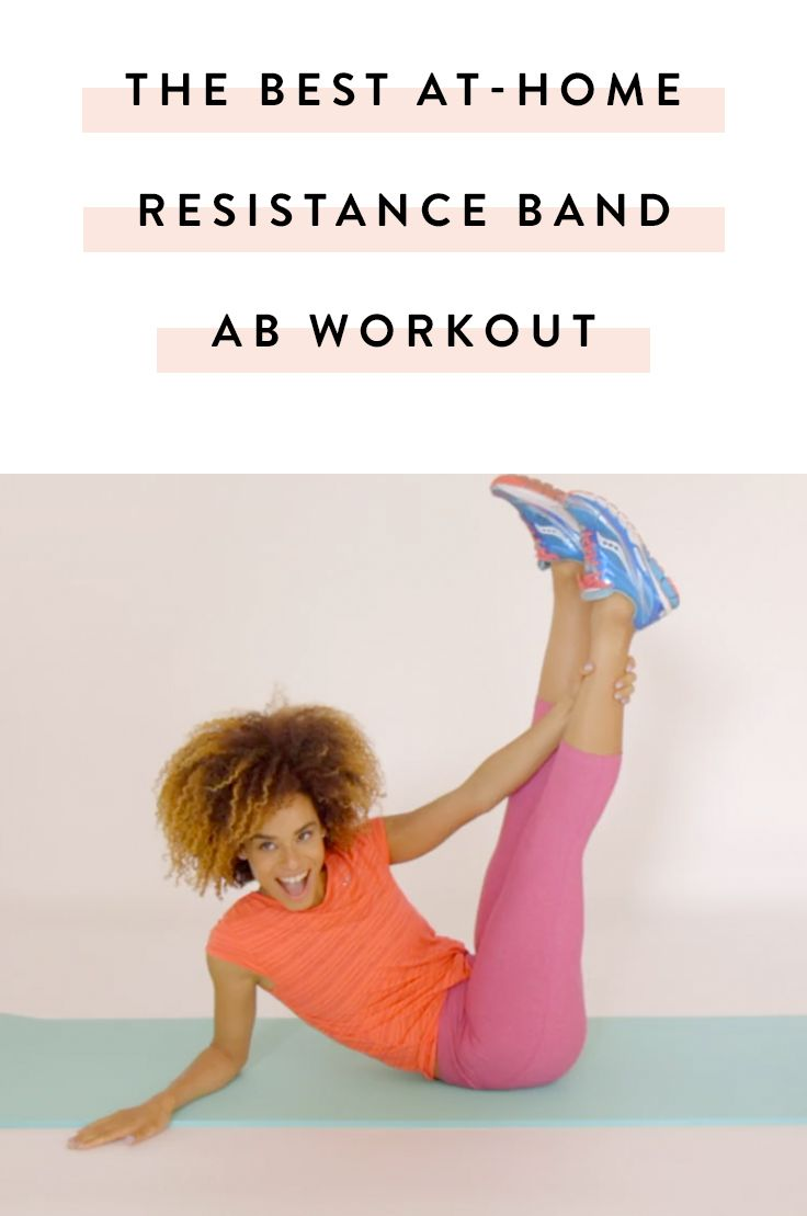 The Best Ab Workout You Can Do at Home with a Resistance Band