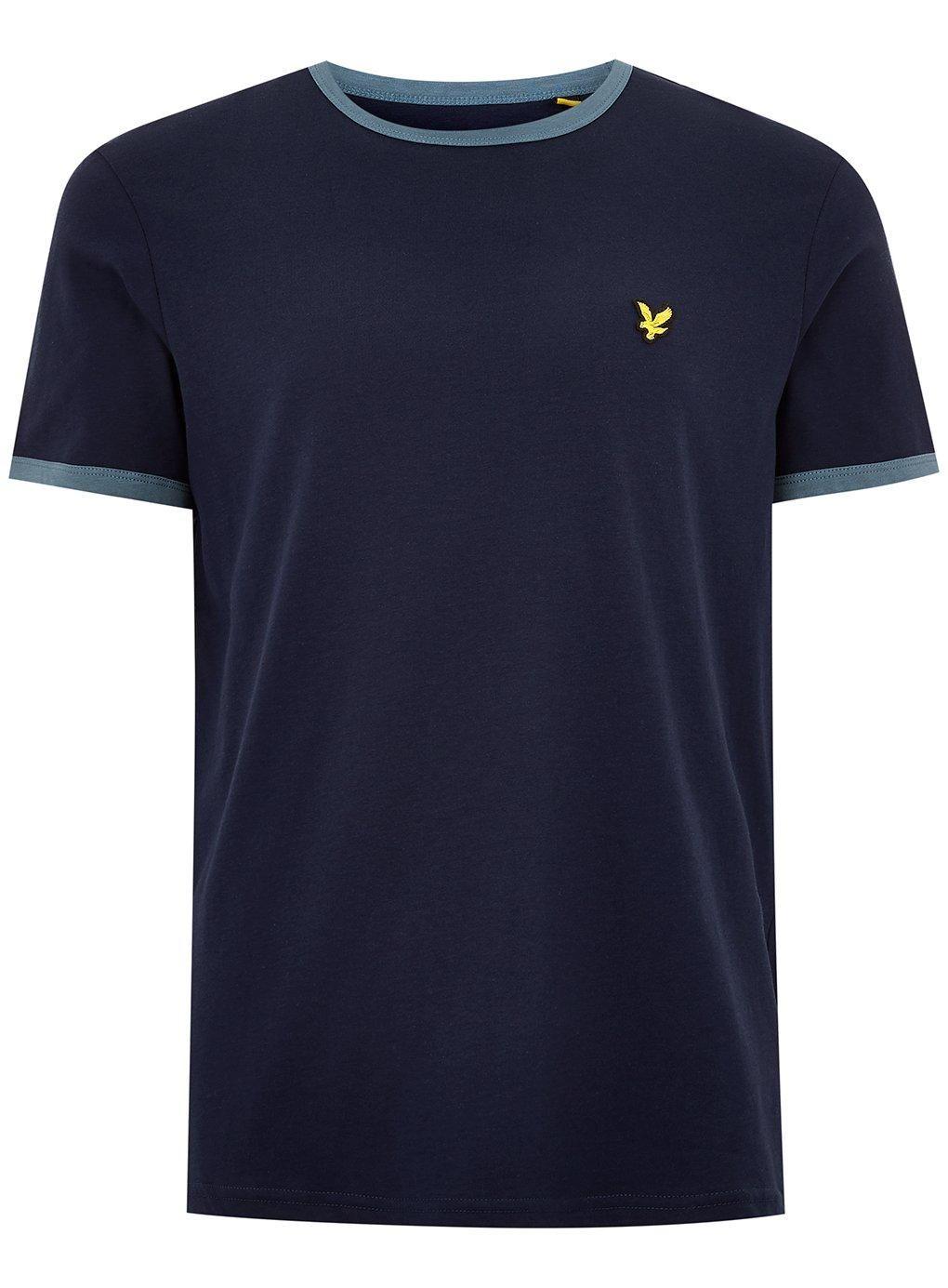Topman Herren Im Navy Style Oxfordhemd Blau Navyblau Ringer rrFv7x