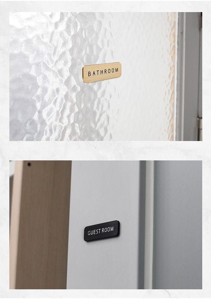 ドアプレート メタルプレート ドアサイン Hansmare Aluminum Door Sign インテリア トイレ オフィス 会社 事務所 部屋 表札