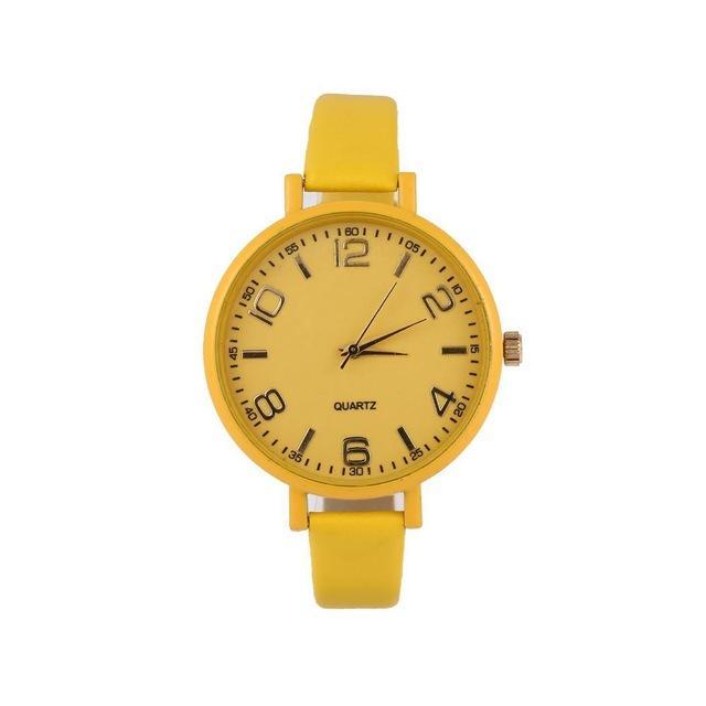 Fanala Watch Women Fashion Relogio Feminino Synthetic Leather Band Round Analog Quartz Wrist Women Watches Reloj Mujer Watches