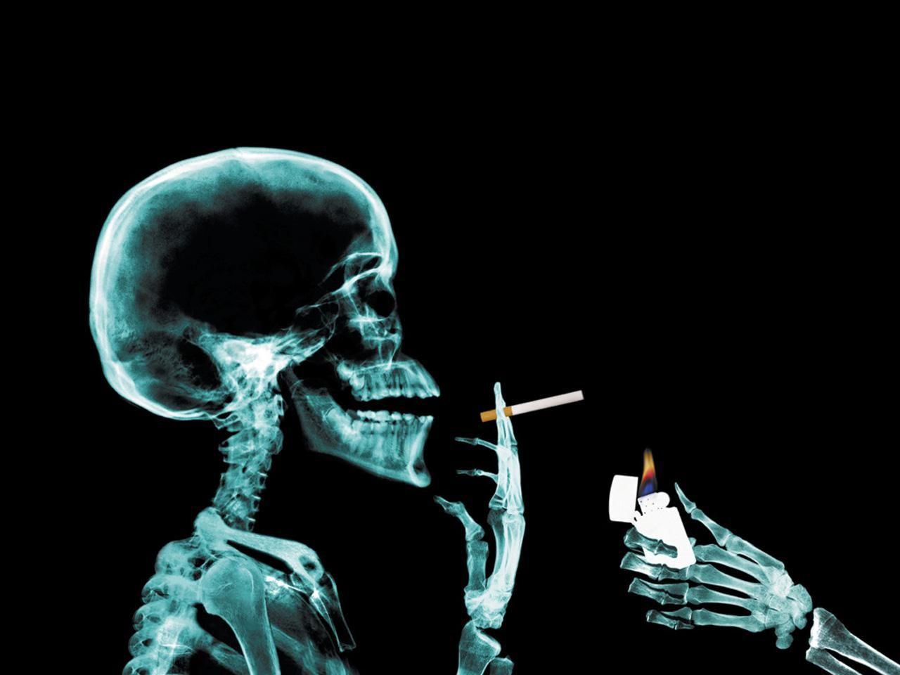 Smoking Man In X Rays Desktop Wallpapers