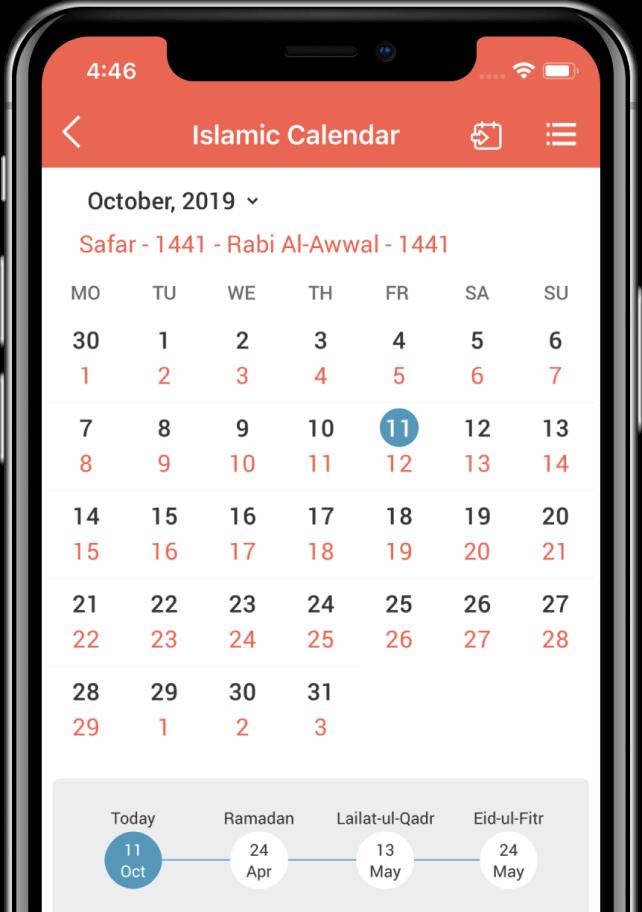 Islamic Calendar 2020 Hijri 1441 to Gregorian Calendar