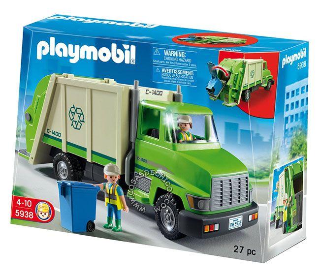 Camion Recolector De Residuos Playmobil 5938 Playmobil Camion De Basura Reciclaje