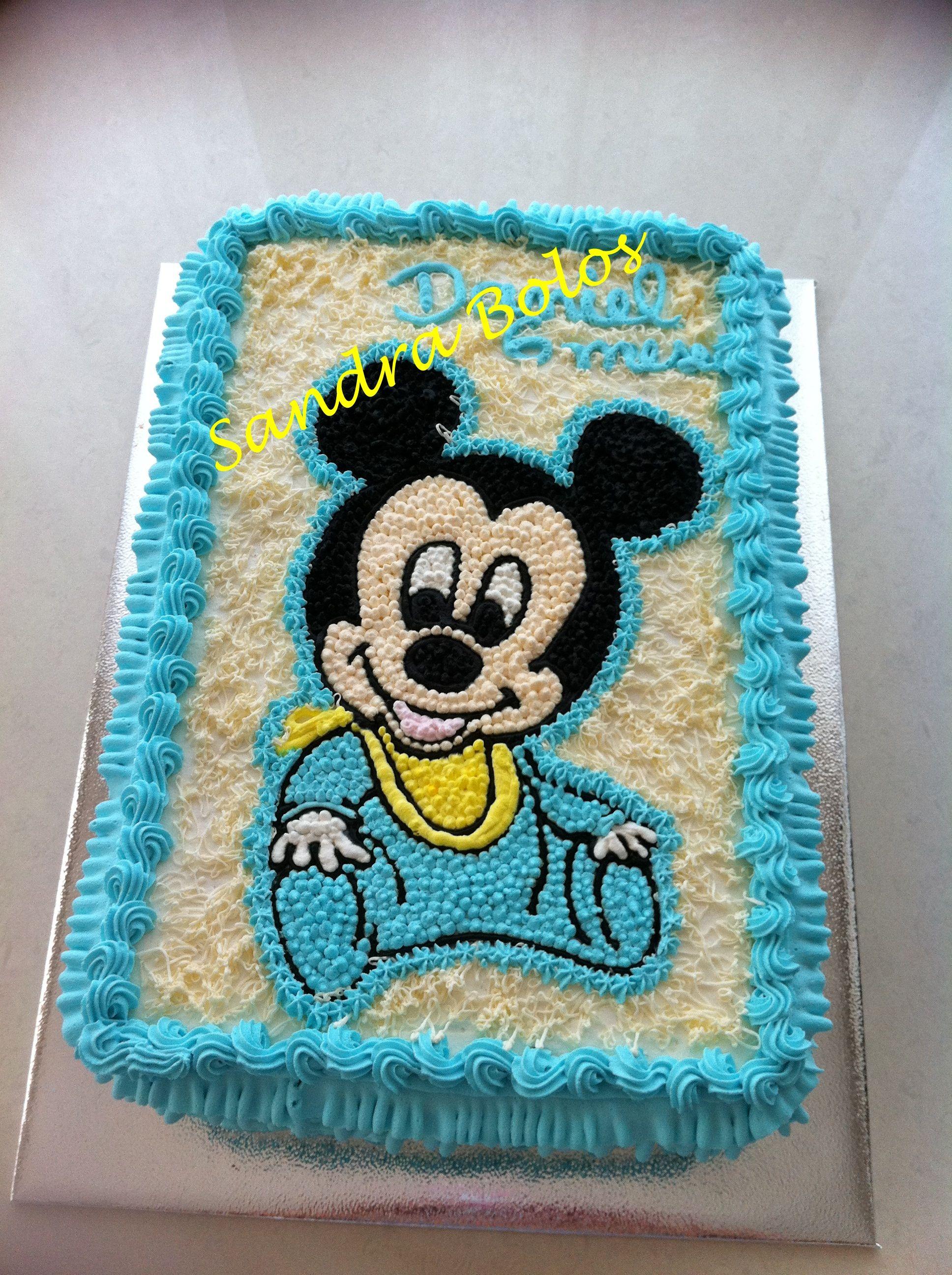 Baby Mickey Com Imagens Bolos De Aniversario Cha De Bebe