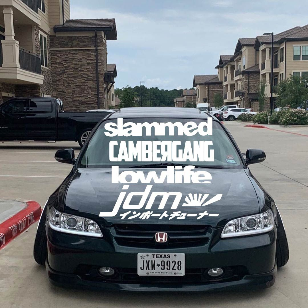 Jdm Windshield Banners Windshield Decals Custom Windshield Banner Large Decal Transfer Sticker Window Decal In 2020 Custom Decals Large Decal Windshield