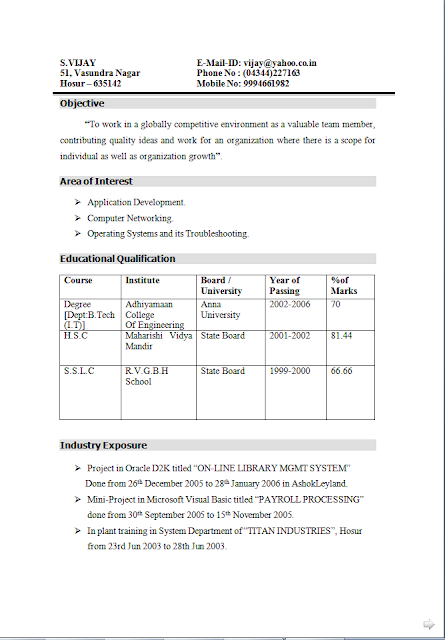 Resume Without Objective Curriculum Vitae Builder Free Download Sample Template Excellent .