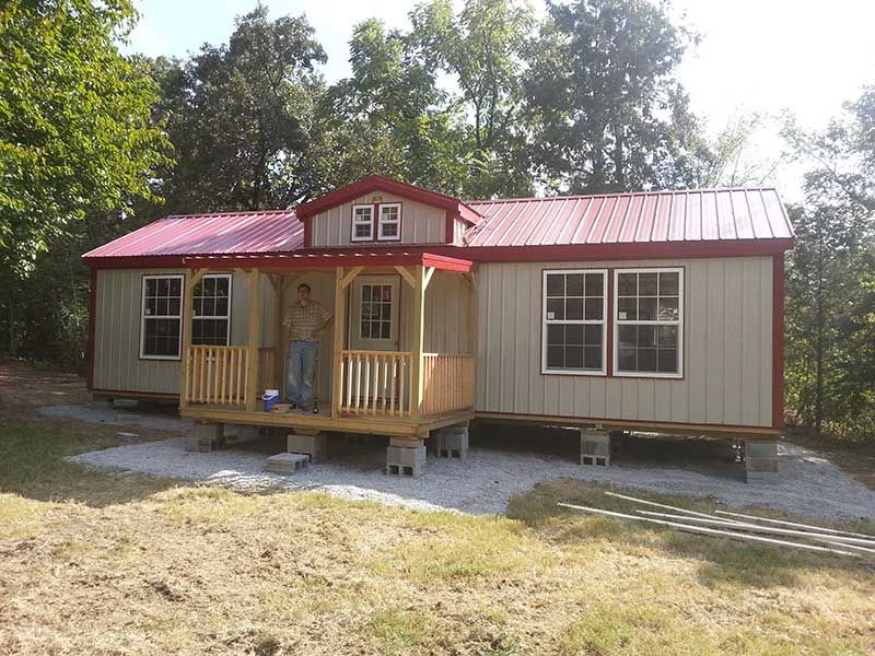 Welcome To Our Deluxe Cabins Photo Gallery Each Building Is Quality Built With 40 Year Warranty On Steel M Metal Buildings Shed To Tiny House Sunrise Building